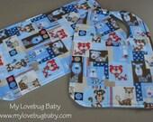 SALE - Puppy Dog Bib and Burp Cloth Set
