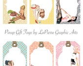 Pinup Girl Gift Tags - digital download
