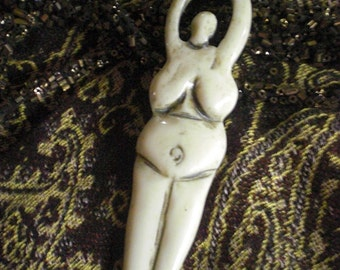 Bone Goddess Bead