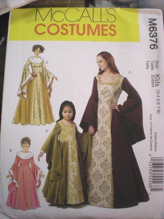 Medieval Gown Pattern  McCall's (child)