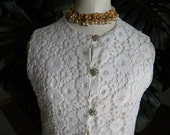 Lovely in lace vintage 60's two piece jumpsuit