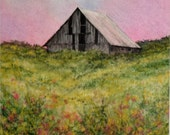 Spring Valley Morning, Original Watercolor Painting