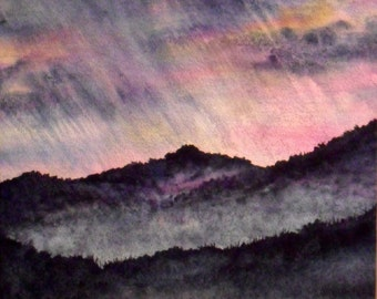 Misty Morning, Original Watercolor Painting