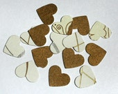 Mini Gold or Silver Heart Confetti Weddings Showers Table Decor