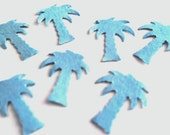 Tropical Palm Trees Confetti for weddings showers table decor