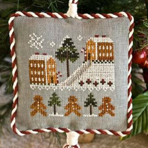cross stitch pattern : Gingerbread Village Little House Needleworks Christmas ornament counted cross stitch CIJ