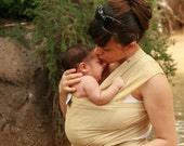 Beachfront Baby Wrap Carrier- water babywearing at the beach, pool, water park or in the shower- GOLDEN SAND