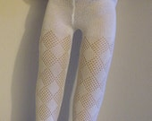 Fits 10 Inch Patsy Tonner Doll .... White Diamond Pattern Tights .... S00