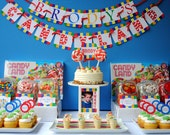 Candyland Birthday - Printable Personalized Banner