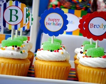 Candyland Birthday - Printable Party Tags