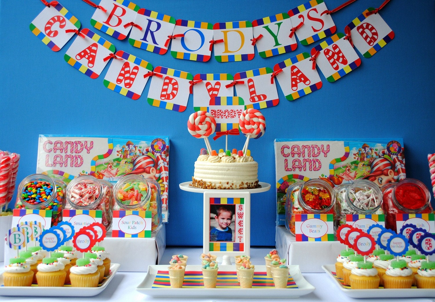 Glow In The Dark Candy Buffet Candyland Birthday Pri...