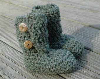 Crochet Pattern for Bulky Button Loop Booties - Toddler sizes - Welcome to sell finished items