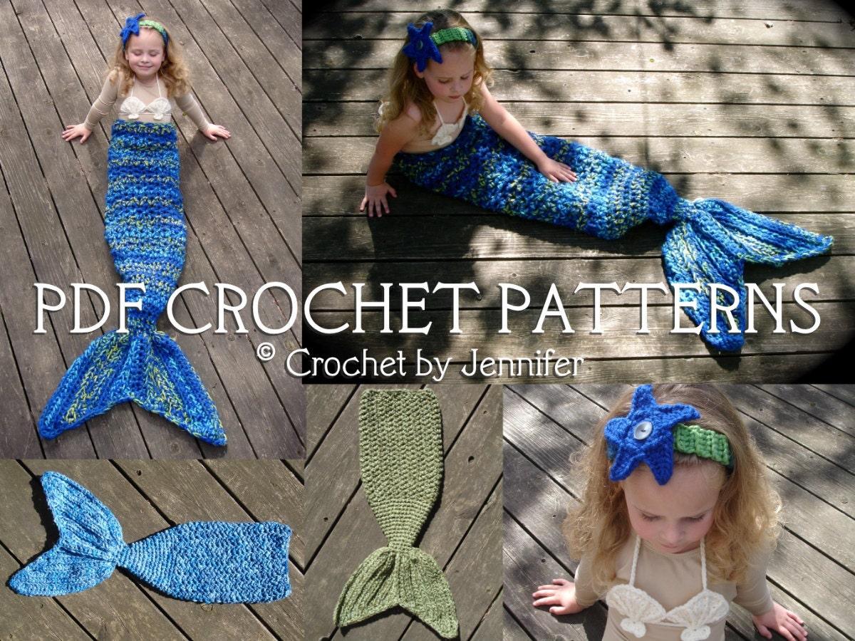 Crochet Patterns Mermaid Tail : Set of 3 Crochet Patterns for Mermaid Tail by crochetbyjennifer