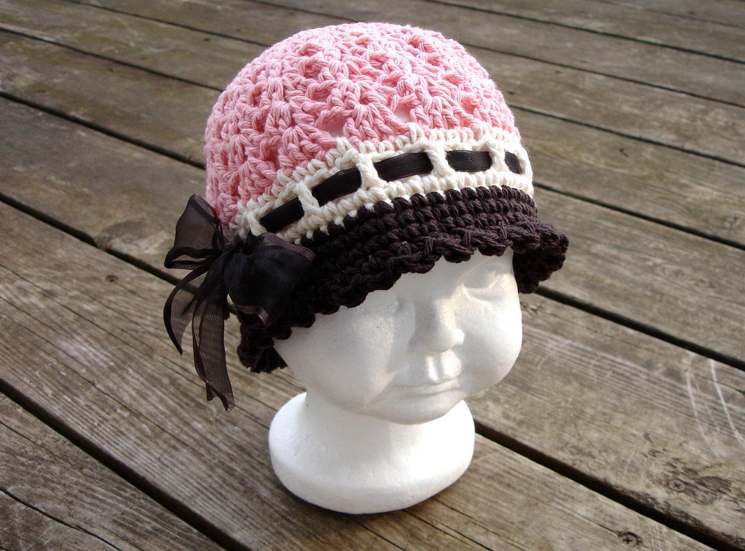 Crochet pattern for katrina cloche hat 5 sizes baby to adult this is a digital file dt1010fo