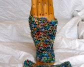 Watercolor Fingerless Gloves