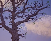 "Branching Tree Glorious Day, 8"" x 10"" Original Giclee Print  Poster"