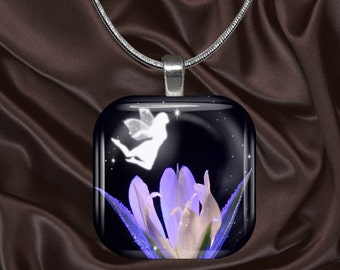 Fairy Glass Tile Pendant(fairy5.2)