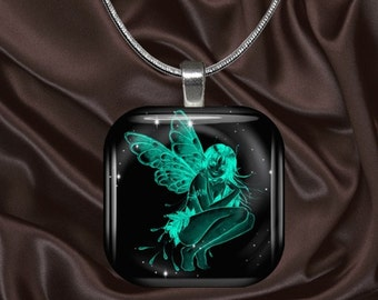 Fairy Glass Tile pendant(fairy6.5)
