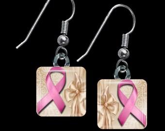 Breast Cancer Awareness Earrings(EBC4.4)