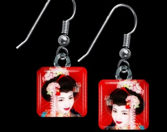 Geisha Earrings(ECuOr1.3)
