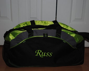 Groomsmen Duffel Personalized Custom Monogrammed Bag Gym School Dance Tote Cheer Gymnastics Embroidered Large Bag Wedding Groomsmen