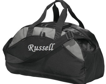 Groomsmen Gifts Personalized Monogrammed Duffel Bag Gym Bag Embroidered 5 colors to Choose Medium/Smaller Bag Wedding