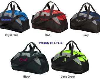 Gym Bag Gift for Groomsmen Personalized Custom Monogrammed Duffel Bag Gym School Dance Tote Cheer Gymnastics Embroidered Large Bag