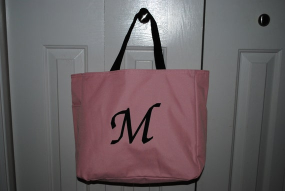 10 Personalized Tote Bag Bridesmaid Gift Cheer Dance Monogrammed Purple Embroidered Baby Wedding