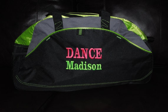 2 Line Gift for Groomsmen Personalized Monogrammed Duffel Bag Gym School Dance Tote Cheer Gymnastics Book Embroidered Large Bag Wedding