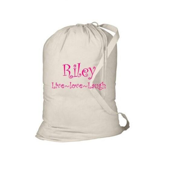 Custom Personalized Embroidered Laundry Bag Graduation Dorm