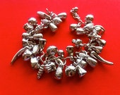 Fruits and vegetables are good for you - charm bracelet