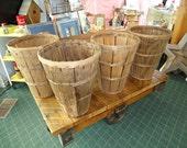 Tall Vintage Bushel Fruit Basket