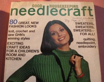 Good Housekeeping Needlecraft, Vintage,FallWinter 1973-74. 80 Great Fashion Looks.