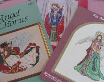 Angel Patterns X Stitch, 2 MarBek designs by Rebecca Waldrop, 1  Gloria and Pat Design.