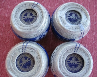 Cebelia,  DMC great quality Cotton Thread, import from France, size 20, 4 balls