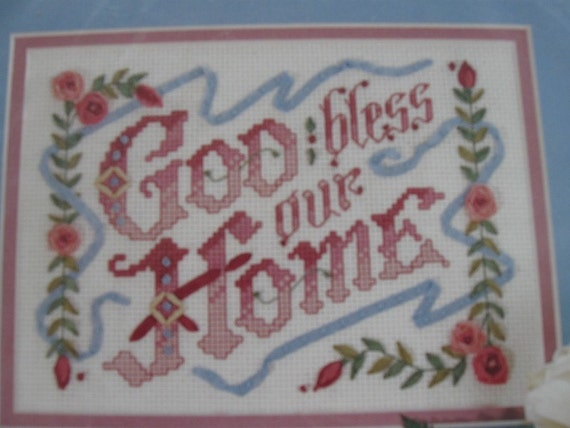 Silk ribbon embroidery kit by bucilla with counted cross