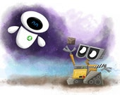 "Wall-E and Eve 8"" x 10"" Print"