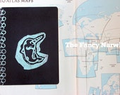 Blue Whimsy Fancy Narwhal XLarge Moleskine Notebook - Blank Pages