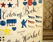 Andy Warhol Large Coloring Book - First Edition Modern Prints for Your Nursery or Kid's Bedroom