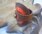Leather bracelet  -  Free shipping worldwide