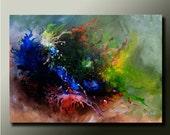 Original ABSTRACT Modern PAINTING Splash Contemporary Fine Art by Idil Kamlik