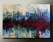 Original ABSTRACT Modern PAINTING Textured Contemporary Fine Art by Idil Kamlik