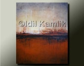 Original ABSTRACT Modern Landscape PAINTING Contemporary Fine Art by Idil Kamlik