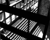 Fine Art Photography Print Black and White crosses of light and shadow