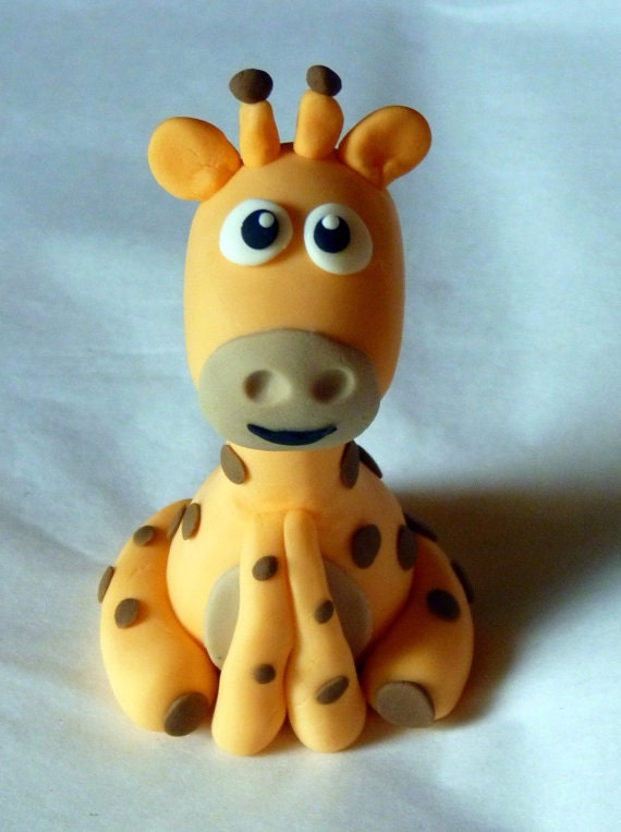 Items similar to Fondant Cake Toppers-Zoo Animals-Set of 5 ...
