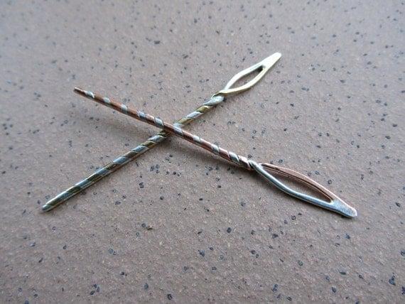 Handmade Yarn Sewing Needle, Flame Eyed