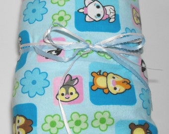 Flannel Fitted Crib Sheet Toddler Bed Sheet Woodland Baby Animals