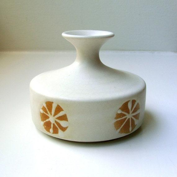 Mid Century Vase Scandinavian Style Matte Danish Modern Pottery 1960's