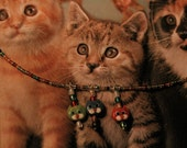 Three Little Kittens Beaded Necklace
