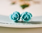 English Rose Earrings- Turquoise